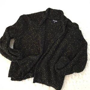 TILDON Black Shimmery Sparkly Sweater